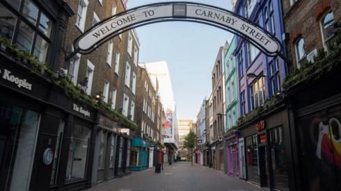 Empty Carnaby Street