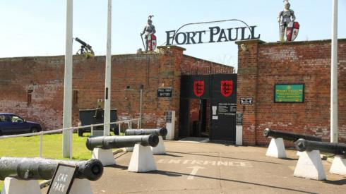 Entrance to Fort Paull
