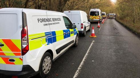 Police at Hedgerley Lane