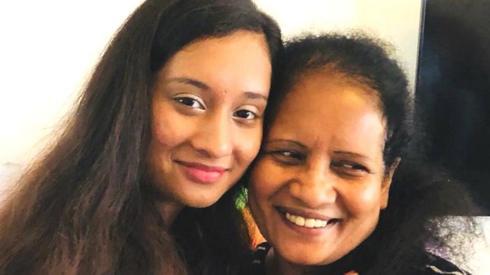 Rashani and her mother