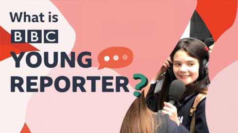 BBC Young Reporter graphic with girl