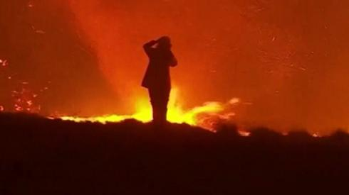 A firefighter in Australia