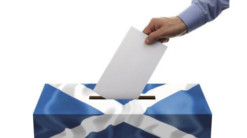 Saltire ballot box