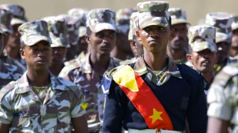 Tigray special forces pictured in February 2020
