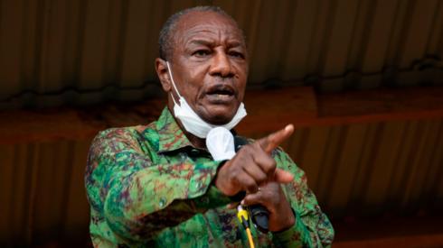 Guinea's President Alpha Condé in 2020