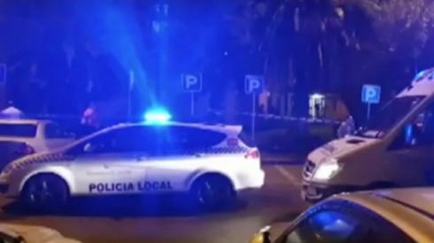 Spanish police at the scene