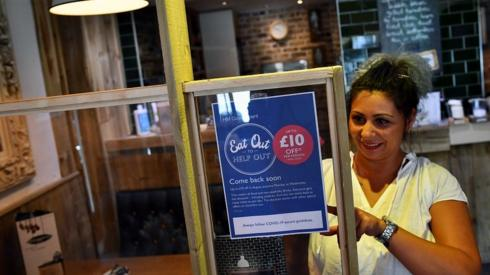 Sign for eat out deal being put up