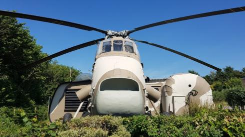 Gallahad glamping helicopter