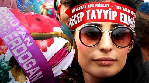 President Erdogan supporter in Rize