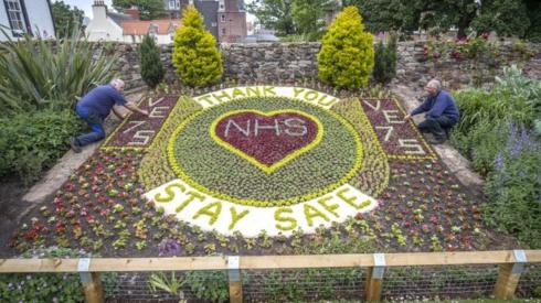 NHS floral display