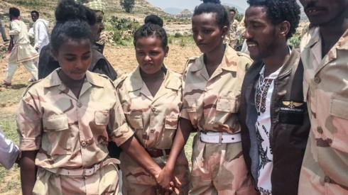 Eritrean soldiers pictured in 2018