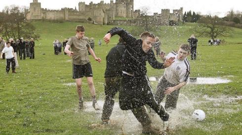 Shrove Tuesday football match in Alnwick