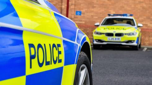 Stock image of Northumbria Police cars