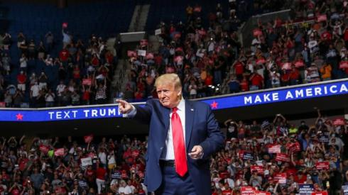 US President Donald Trump at a campaign rally at the BOK Center, June 20, 2020 in Tulsa, Oklahoma