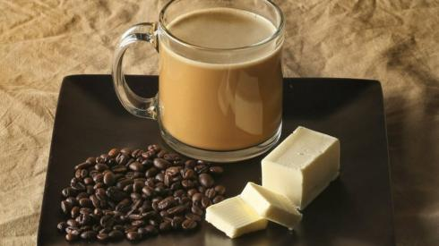 A Bulletproof coffee style brew made with added butter