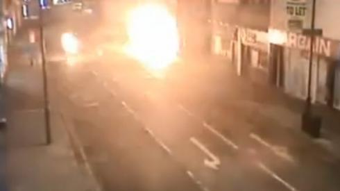 CCTV footage of fire