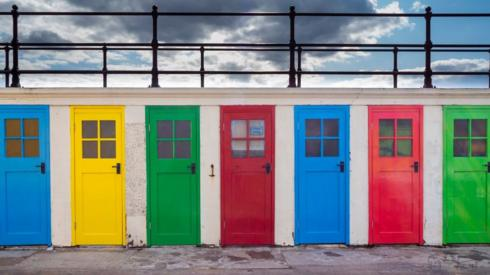 North Berwick beach huts