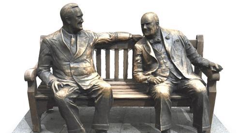 US President Franklin Roosevelt and Sir Winston Churchill