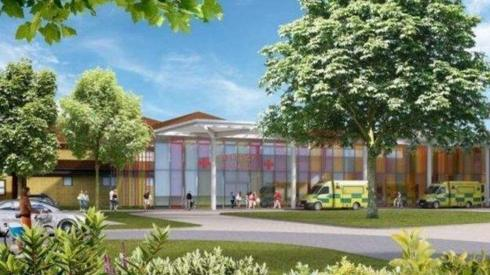 Artist's impression of new hospital buildings