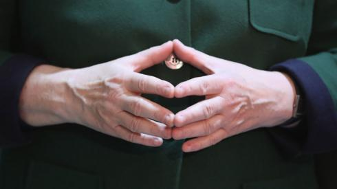 Angela Merkel's hands