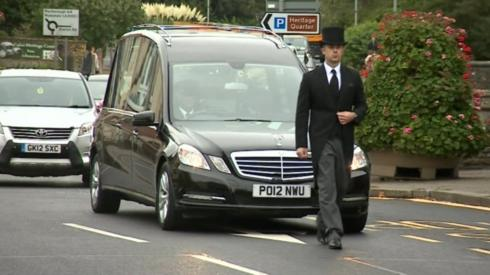 Funeral cortege in Calne