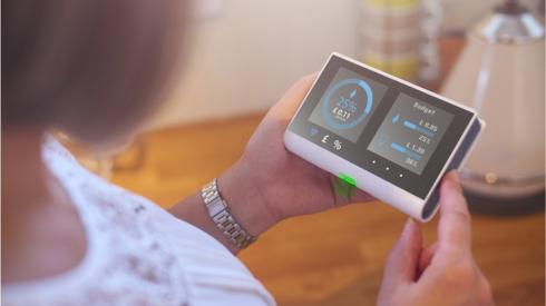 Woman with smart meter