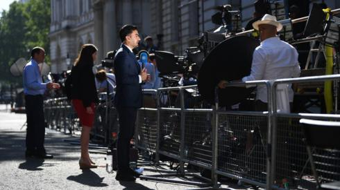 Media outside Downing Street