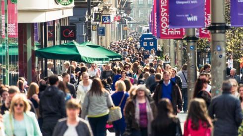 Glasgow shoppers