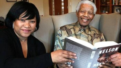 2010 file picture of former South African President Nelson Mandela next to his daughter Zindzi (L) and fellow former political prisoner Ahmed Kathrada (R) in this handout photograph released by the Nelson Mandela Foundation