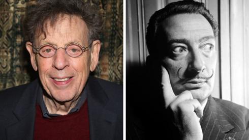 Philip Glass and Salvador Dali