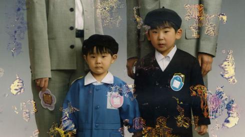 Damaged photo children