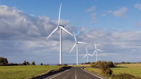 Turbines on road