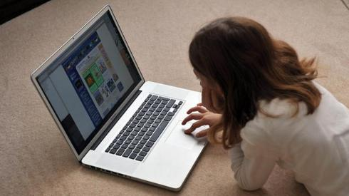 Child with laptop