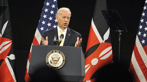 Joe Biden speaking in Kenya