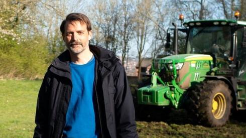 Patrick Grant at the field in Blackburn