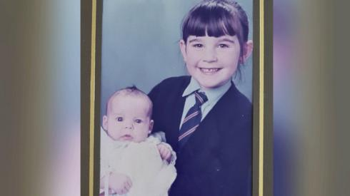 Collette Gallacher and baby sister Lauren
