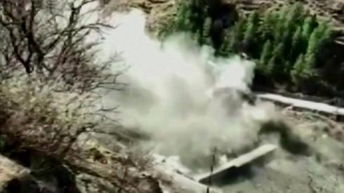 Dam bursting