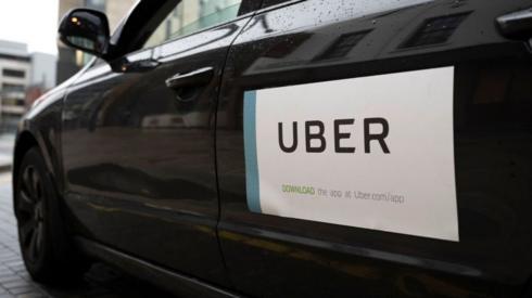 Uber logo on a car