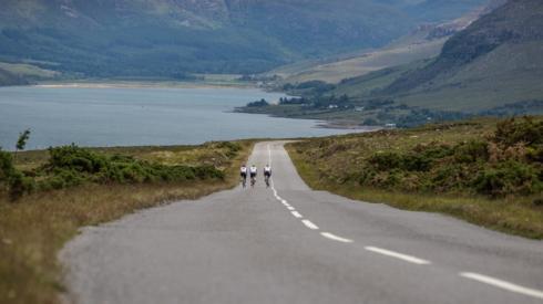 NC500 cyclists