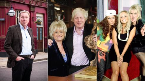 Harry Redknapp, Boris Johnson and Emma Bunton