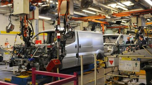 Vauxhall van production line at the Vauxhall Motors factory in Luton