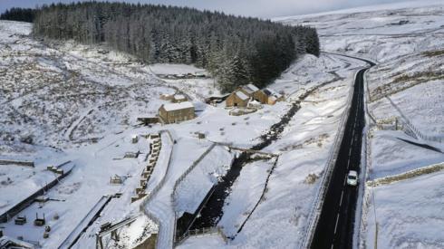 Aerial view of Killhope mining museum