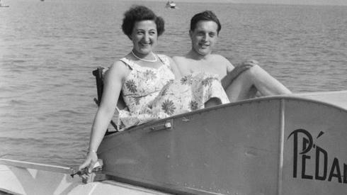 Couple in a pedalo