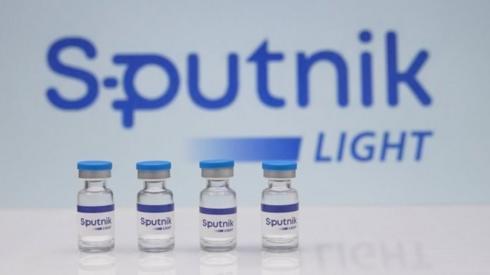 A view shows samples of Sputnik Light vaccine against the coronavirus disease (COVID-19)