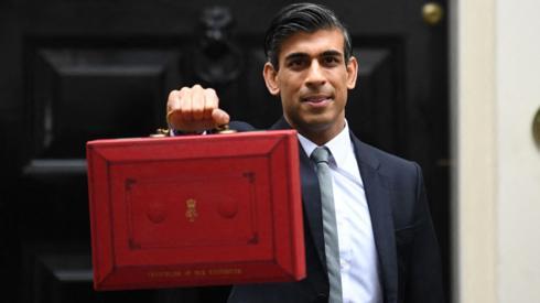 Rishi Sunak with the red box