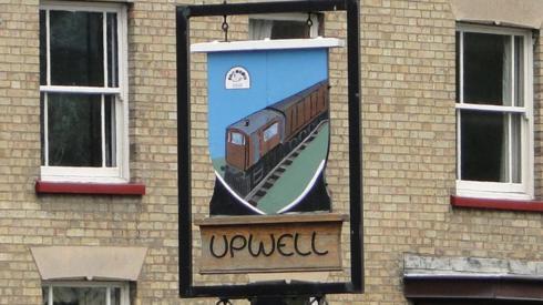 Upwell village sign
