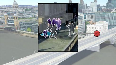 Illustration of London Bridge attack