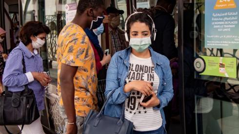 woman in mask in rabat