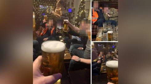 Image of people drinking at the hotel