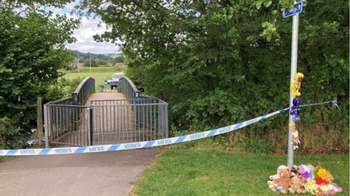 The scene where the boy's body was found